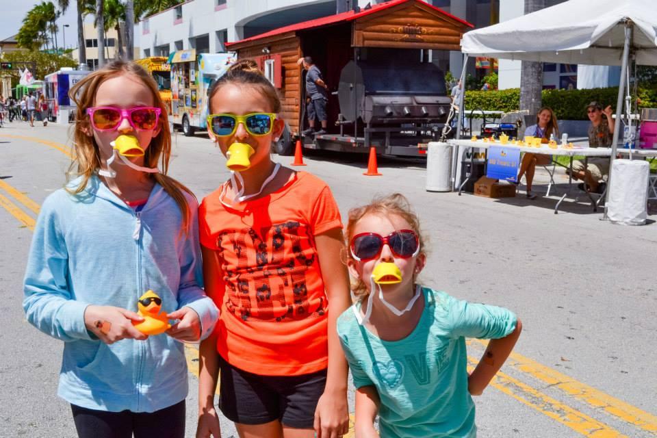 Duck race merchandise used by kids