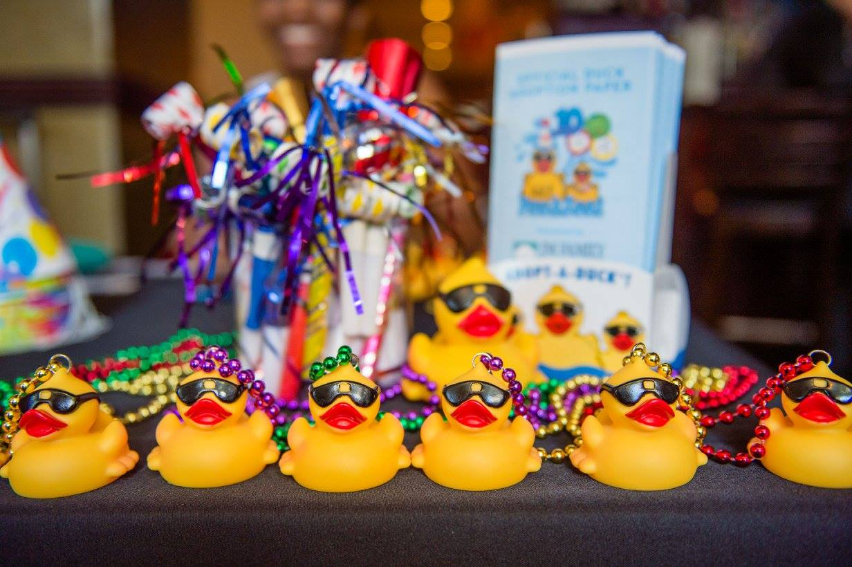Duck race merchandise used for kick-off party