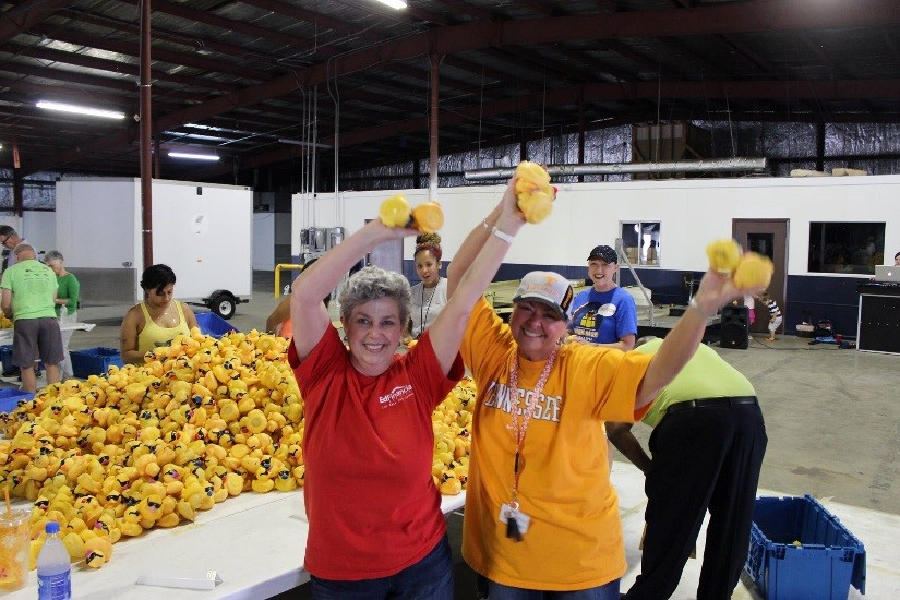 Duck Race Tagging Party Volunteers