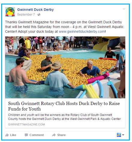 rubber duck promotions all year with media coverage