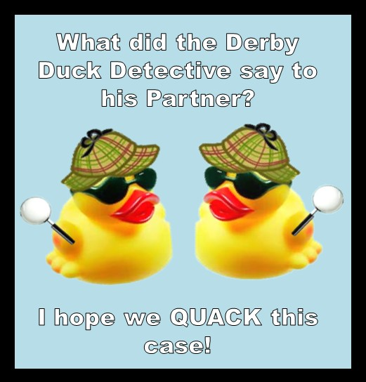 rubber duck race promotions for all year with a duck joke