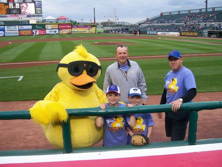 rubber duck race promotions all year with mascot appearances