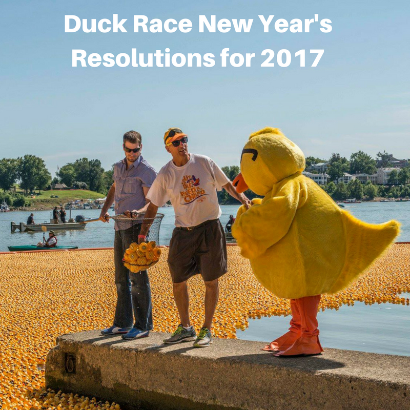 Duck Race New Year's Resolutions for 2017