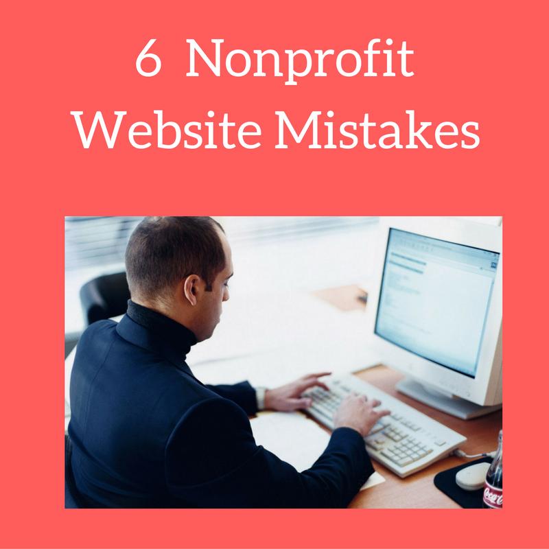 6 nonprofit website mistakes