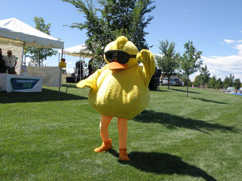 Ideas to encourage last minute duck adoptions - duck mascot dance competition